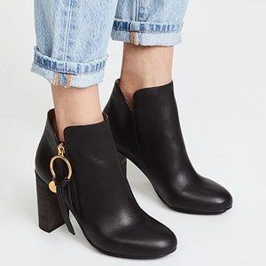 See by Chloe Black Louise Block-Heel Booties $445